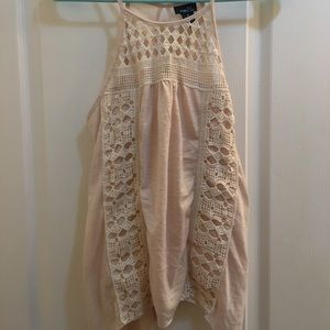 Cute tan lacy tank